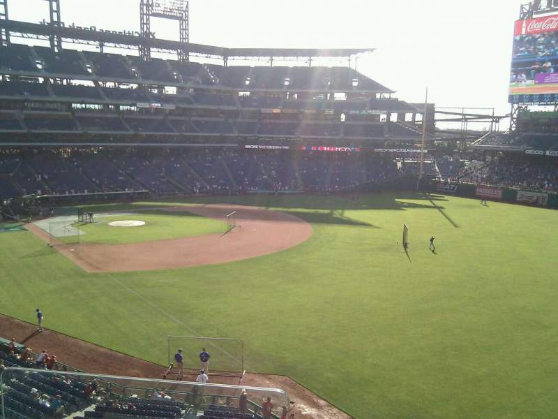 Seating view for Citizens Bank Park Section 207 Row 3 Seat 24