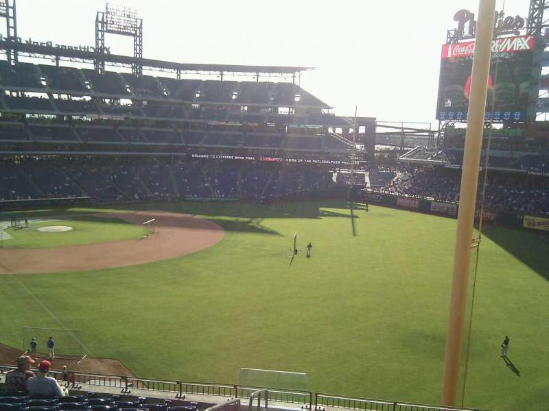 Seating view for Citizens Bank Park Section 307 Row 21 Seat 25