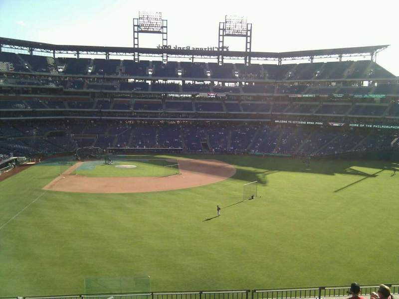 Seating view for Citizens Bank Park Section 203 Row 9 Seat 24