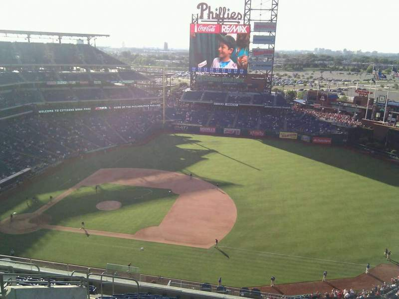 Seating view for Citizens Bank Park Section 413 Row 14 Seat 16