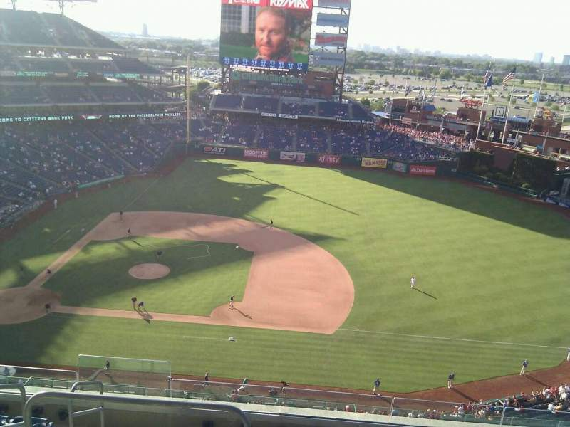 Seating view for Citizens Bank Park Section 414 Row 8 Seat 21