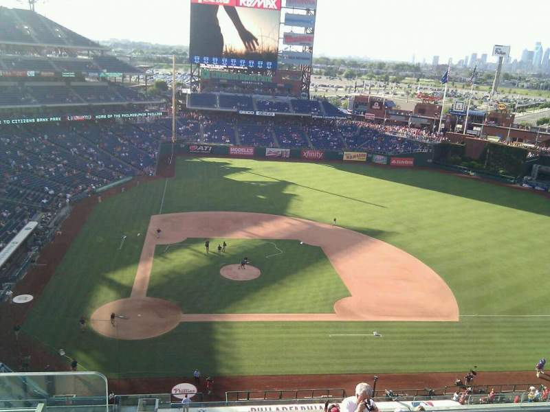 Seating view for Citizens Bank Park Section 416 Row 3 Seat 24