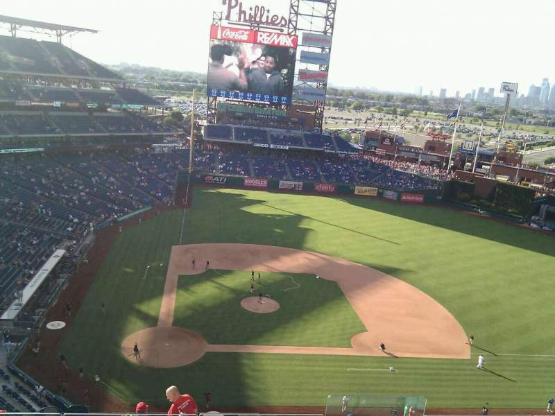 Seating view for Citizens Bank Park Section 417 Row 7 Seat 4