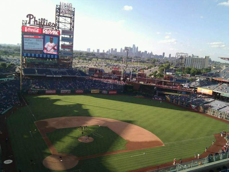 Seating view for Citizens Bank Park Section 418 Row 7 Seat 19