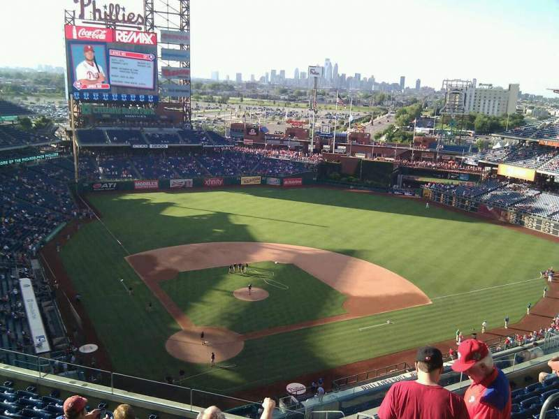 Seating view for Citizens Bank Park Section 419 Row 9 Seat 4