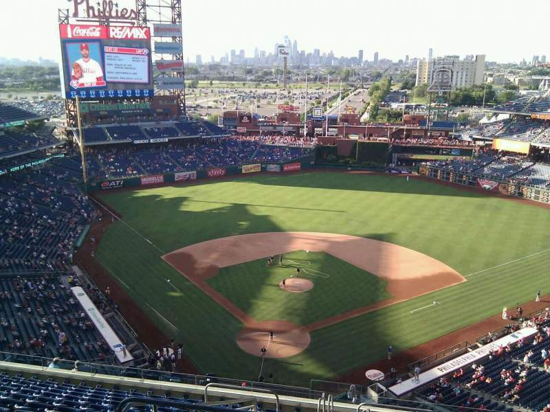 Seating view for Citizens Bank Park Section 419 Row 14 Seat 31