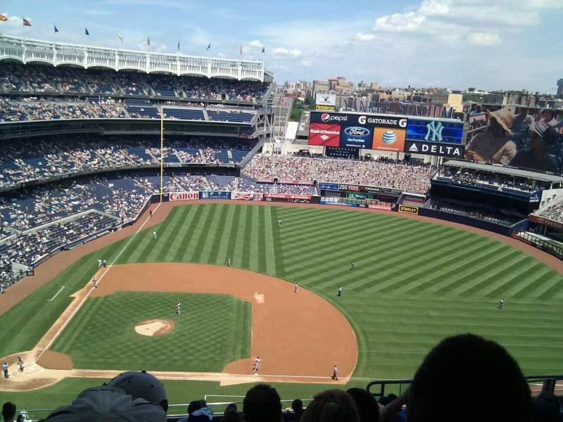 Seating view for Yankee Stadium Section 416 Row 10 Seat 9