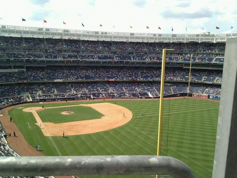 Seating view for Yankee Stadium Section 308 Row 8 Seat 1