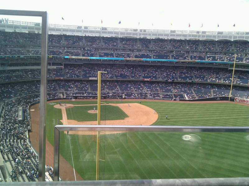 Seating view for Yankee Stadium Section 406 Row 1 Seat 20