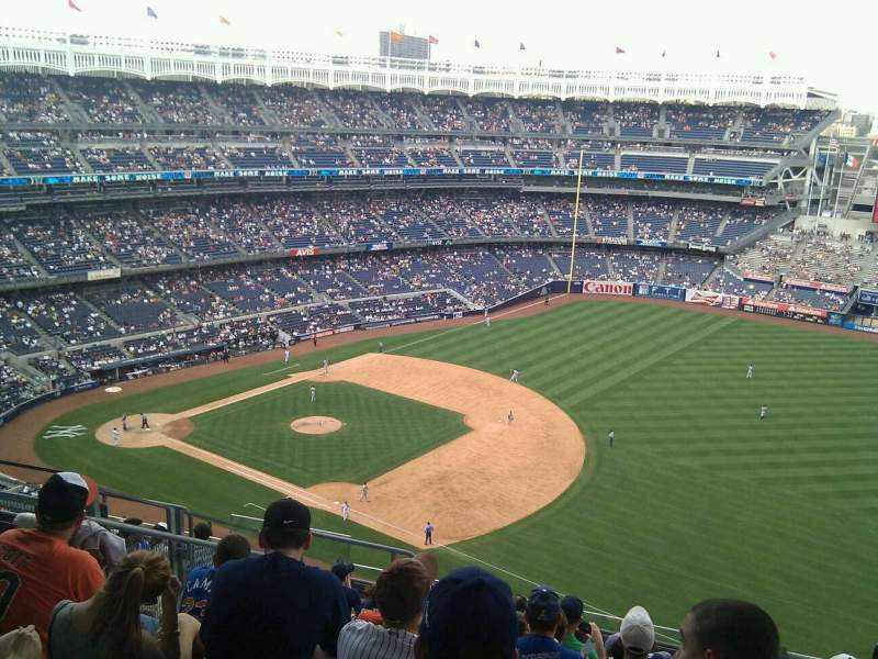 Seating view for Yankee Stadium Section 412 Row 10 Seat 17