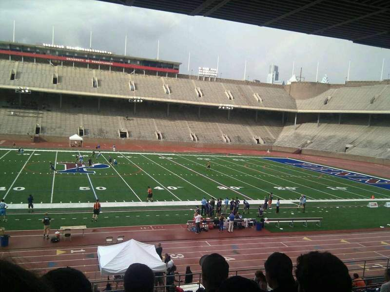 Seating view for Franklin Field Section sf Row 22 Seat 11