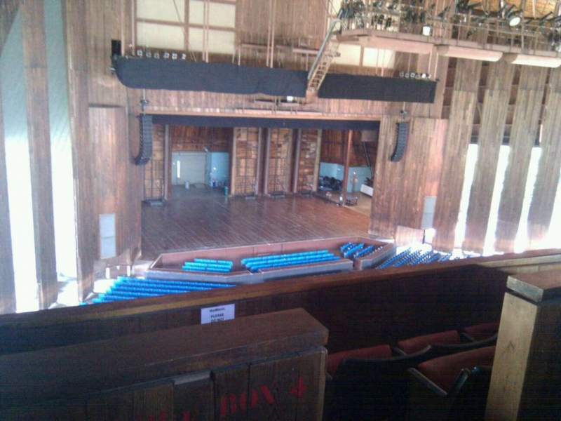 Seating view for The Mann Section balcony box 5 Seat 5