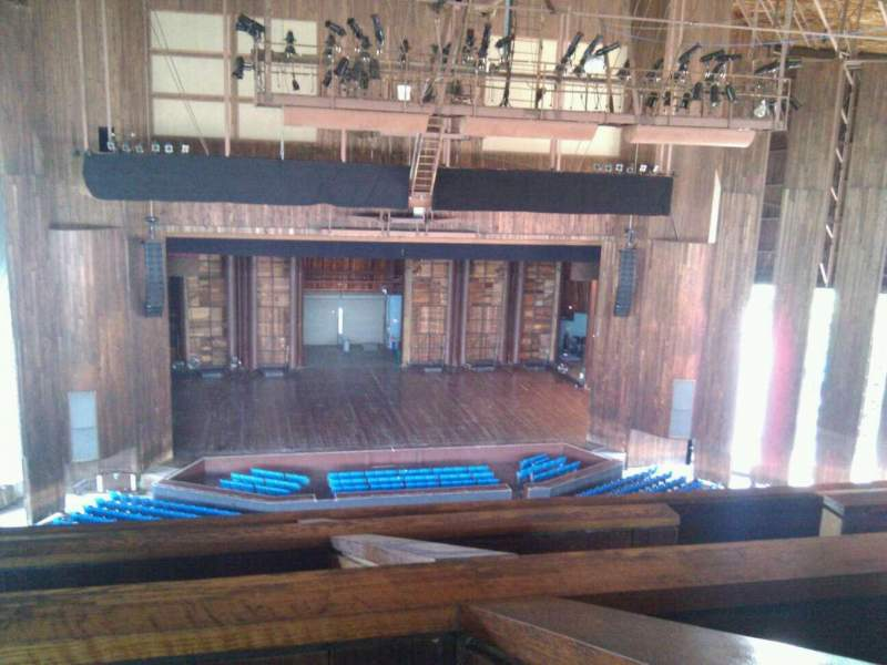 Seating view for The Mann Section balcony box 15 Seat 8