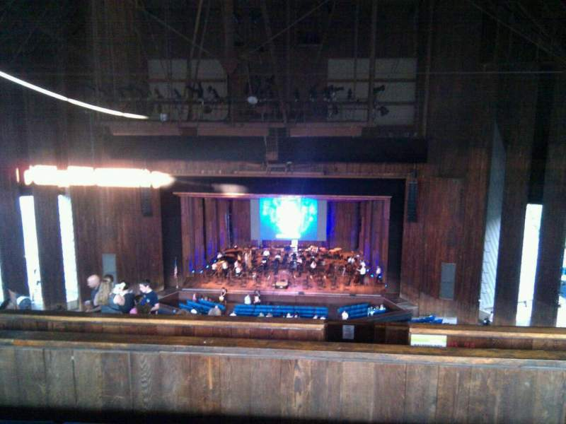 Seating view for The Mann Section balcony Row d Seat 124