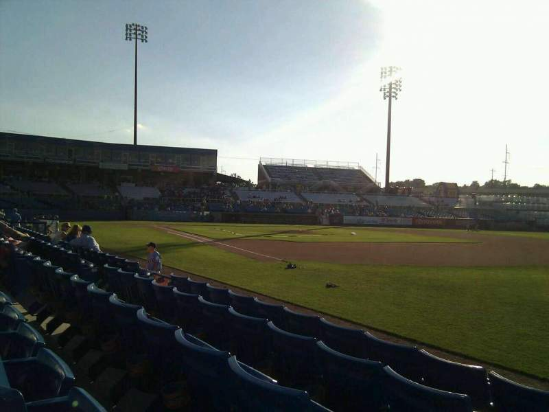 Seating view for Frawley Stadium Section 1 Row 5 Seat 10