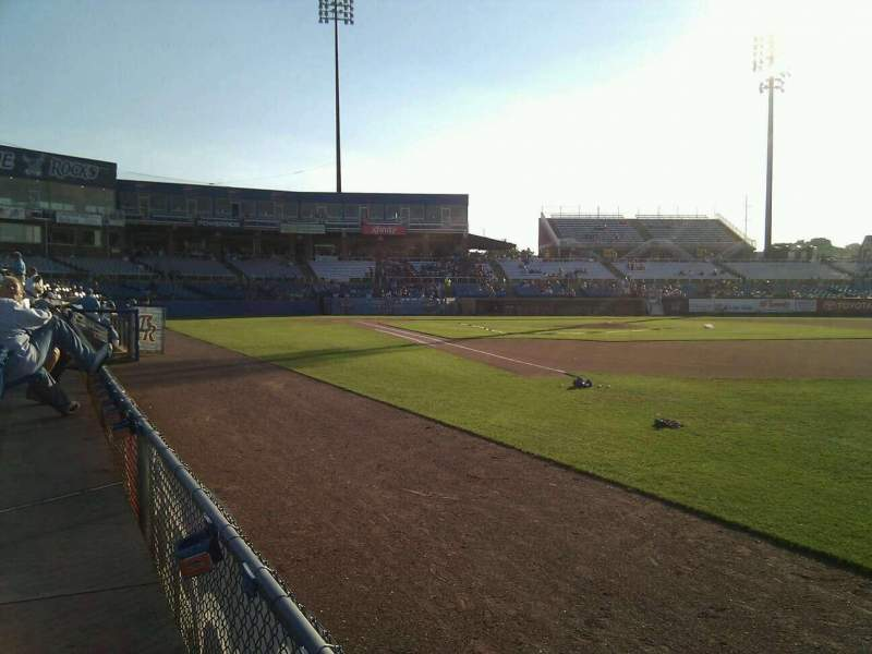Seating view for Frawley Stadium Section 2 Row 1 Seat 5