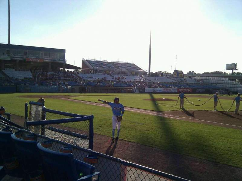 Seating view for Frawley Stadium Section 5 Row 3 Seat 10