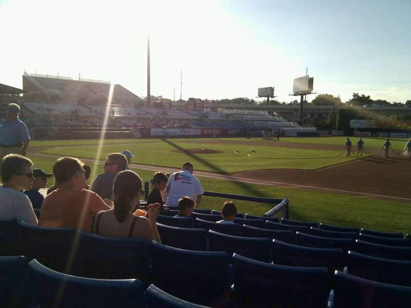 Seating view for Frawley Stadium Section 6 Row 8 Seat 3