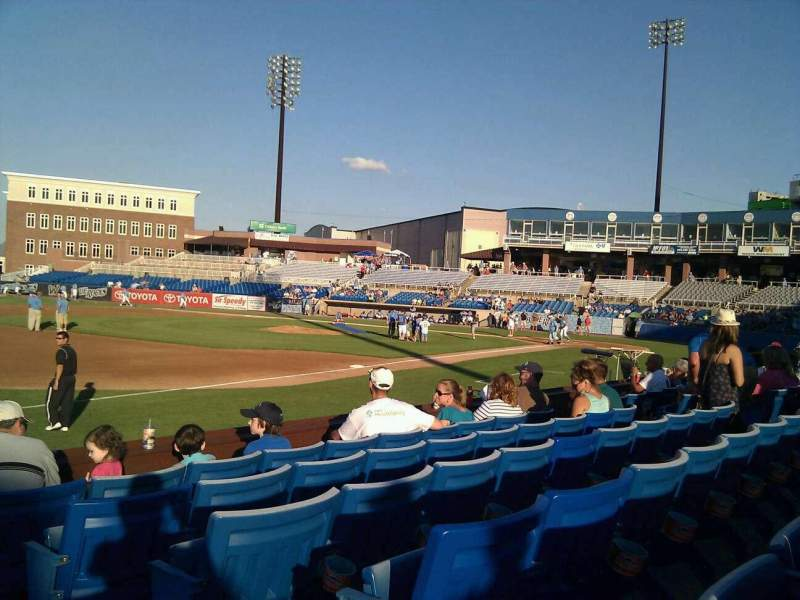 Seating view for Frawley Stadium Section 26 Row 6 Seat 1