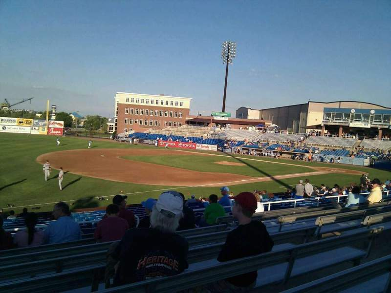 Seating view for Frawley Stadium Section p Row 9 Seat 10