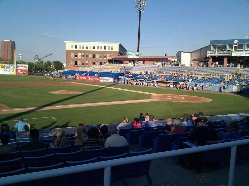 Frawley Stadium, section: m, row: 2, seat: 21