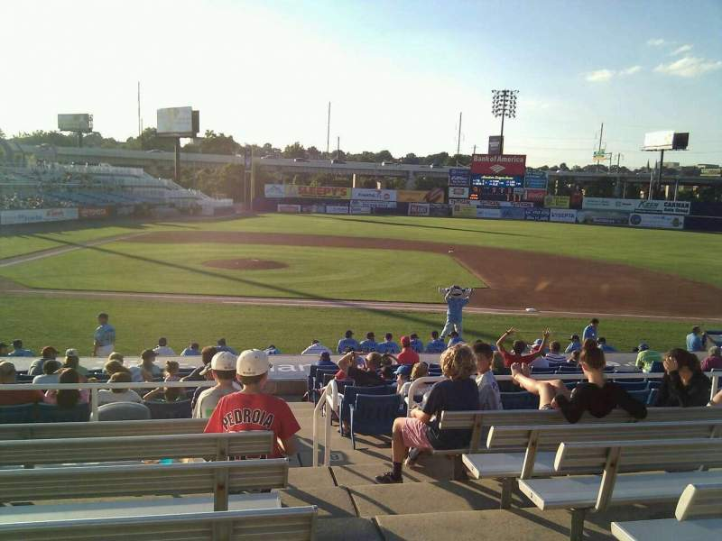 Seating view for Frawley Stadium Section c Row 7 Seat 1
