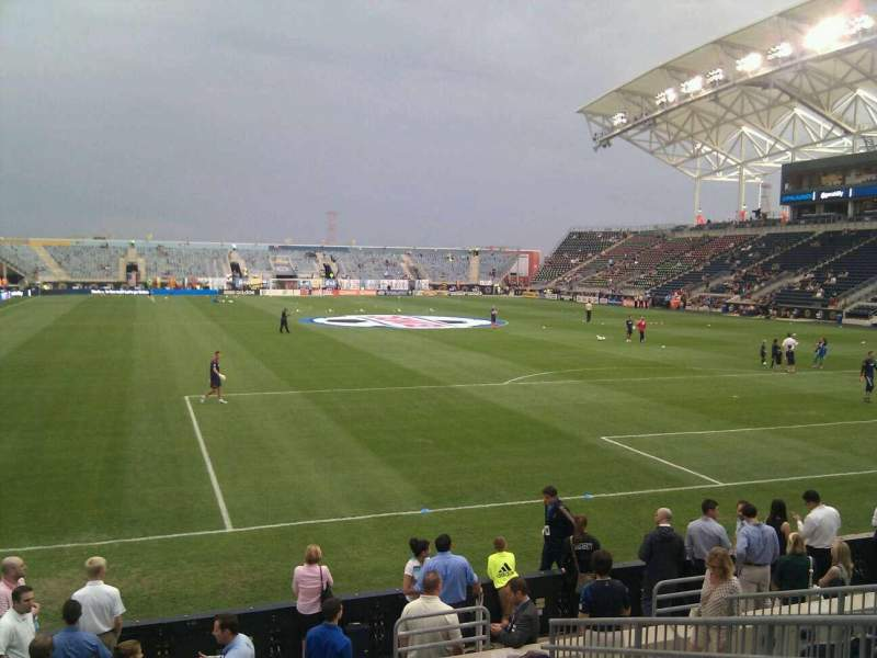 Seating view for Talen Energy Stadium Section 119 Row j Seat 5