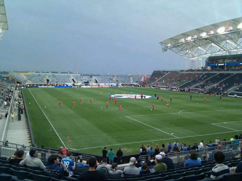 Seating view for Talen Energy Stadium Section 120 Row u Seat 20