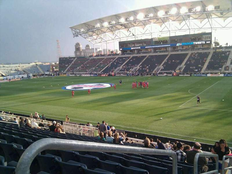 Seating view for Talen Energy Stadium Section 122 Row x Seat 24
