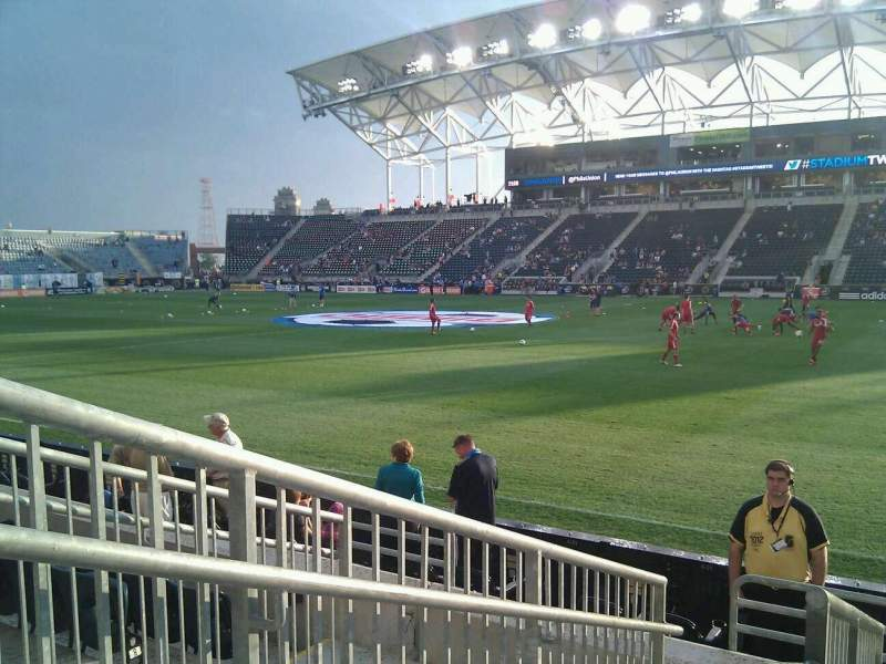 Seating view for Talen Energy Stadium Section 124 Row f Seat 14