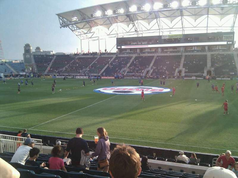 Seating view for Talen Energy Stadium Section 126 Row n Seat 4
