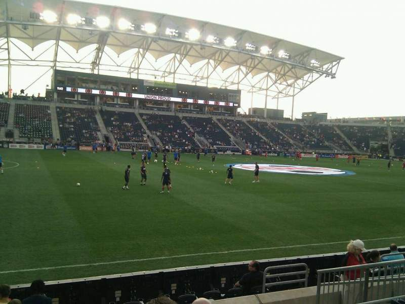 Seating view for Talen Energy Stadium Section 130 Row g Seat 8