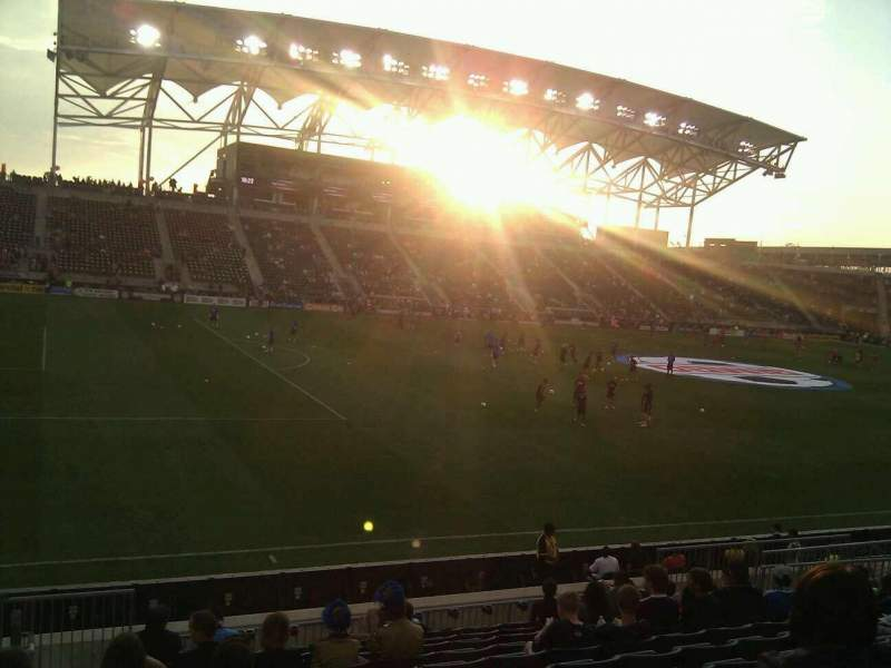 Seating view for Talen Energy Stadium Section 131 Row q Seat 20