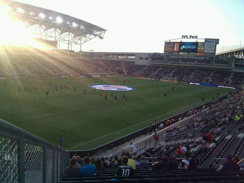 Seating view for Talen Energy Stadium Section 133 Row aa Seat 21