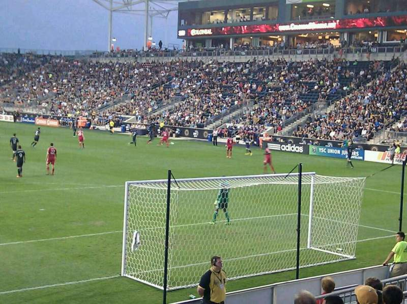 Seating view for Talen Energy Stadium Section 118 Row k Seat 18