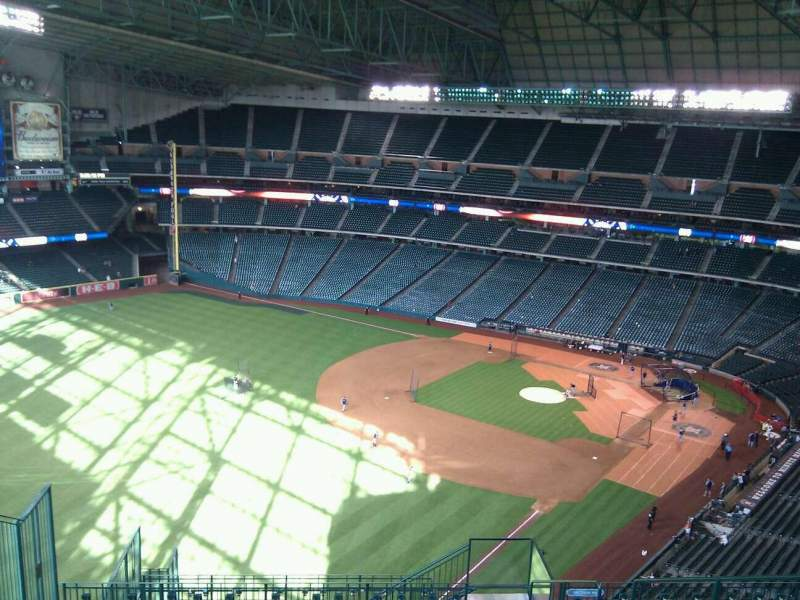 Seating view for Minute Maid Park Section 405 Row 13 Seat 8