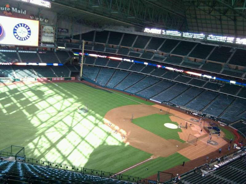 Seating view for Minute Maid Park Section 406 Row 19 Seat 20