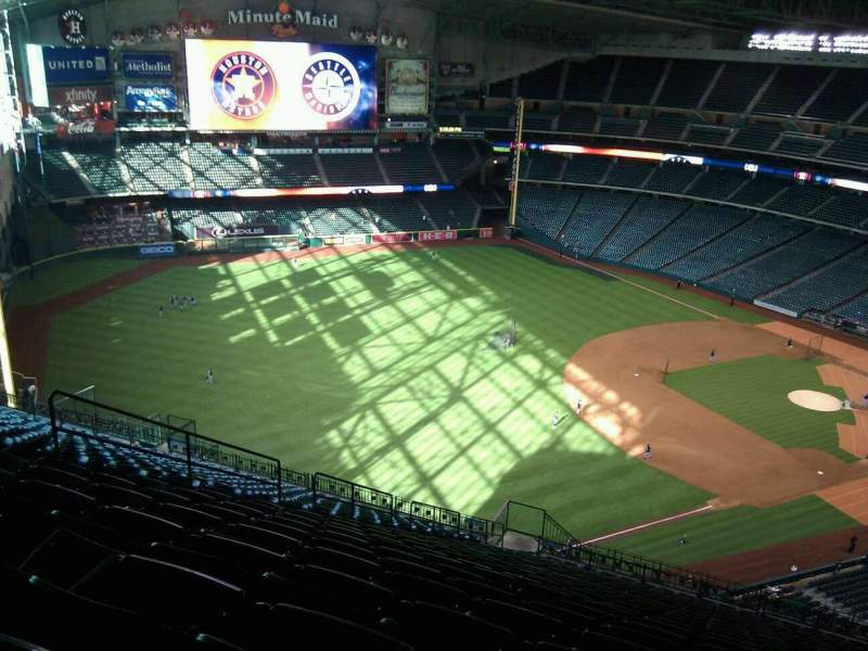 Seating view for Minute Maid Park Section 407 Row 23 Seat 13