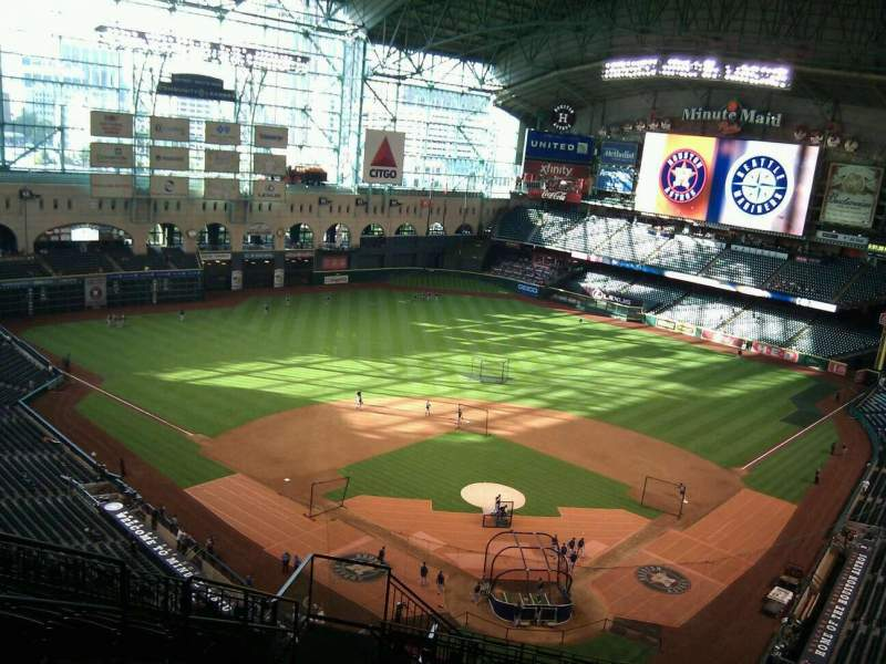 Seating view for Minute Maid Park Section 418 Row 11 Seat 5