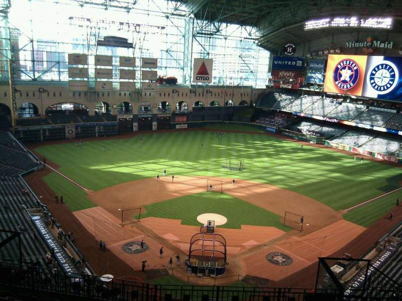 Seating view for Minute Maid Park Section 419 Row 8 Seat 12