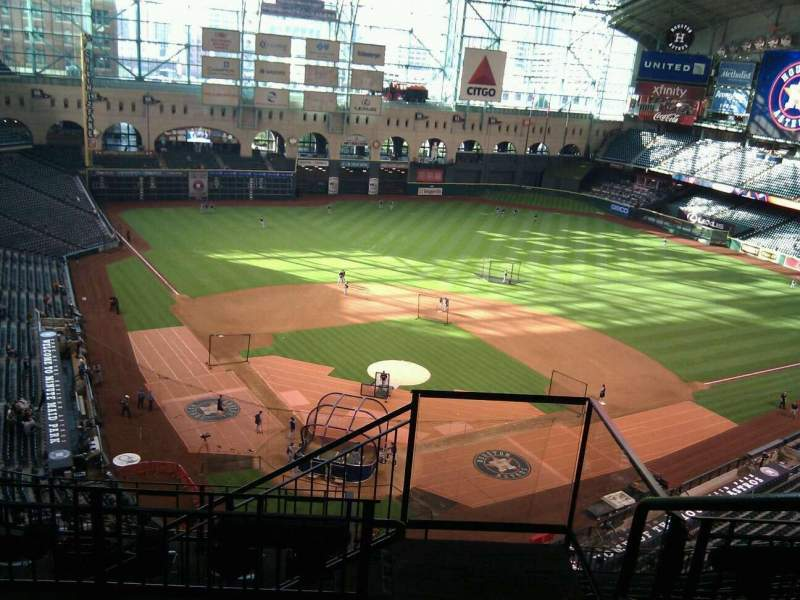 Seating view for Minute Maid Park Section 420 Row 4 Seat 20