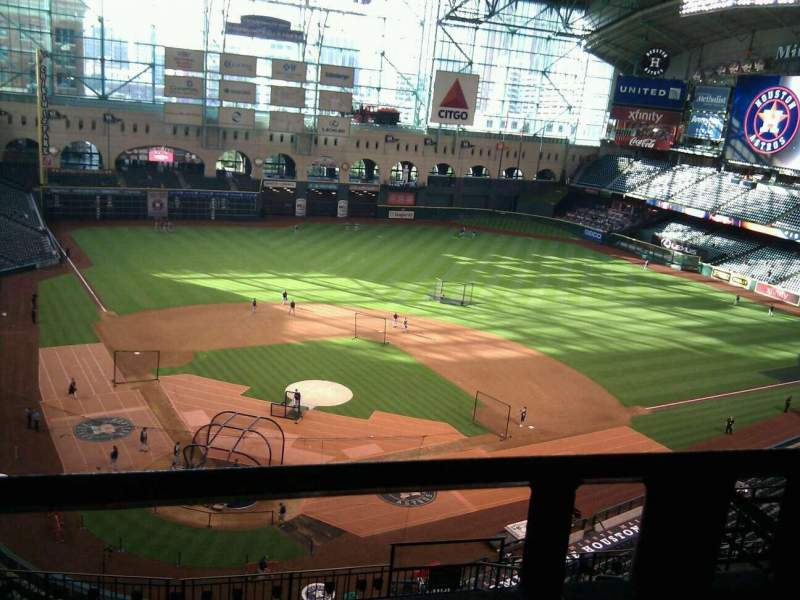 Seating view for Minute Maid Park Section 421 Row 1 Seat 14