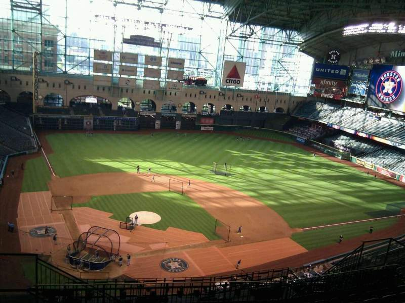 Seating view for Minute Maid Park Section 422 Row 9 Seat 4