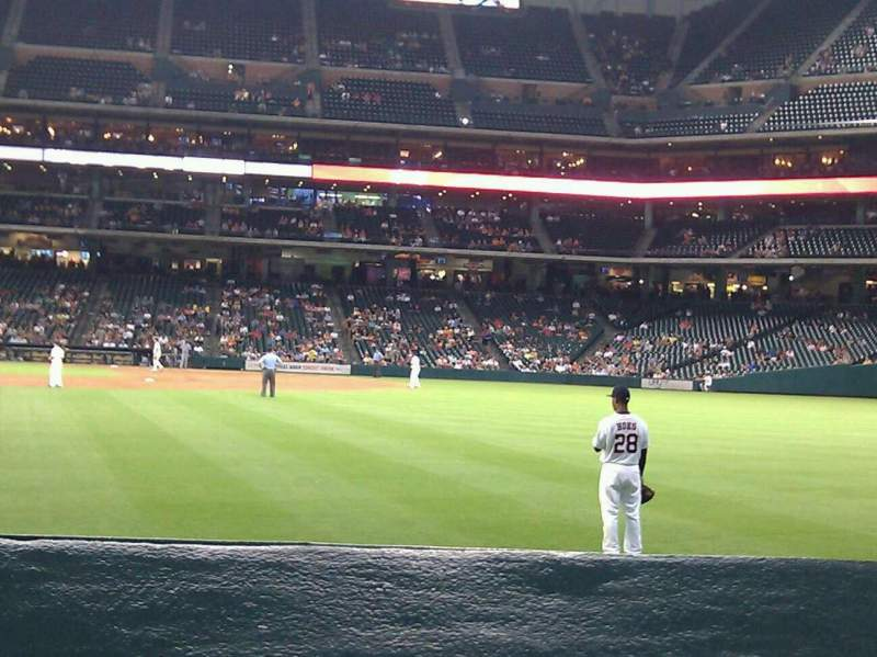 Seating view for Minute Maid Park Section 153 Row 1 Seat 10