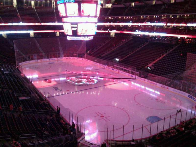 Seating view for Prudential Center Section 117 Row 1 Seat 7
