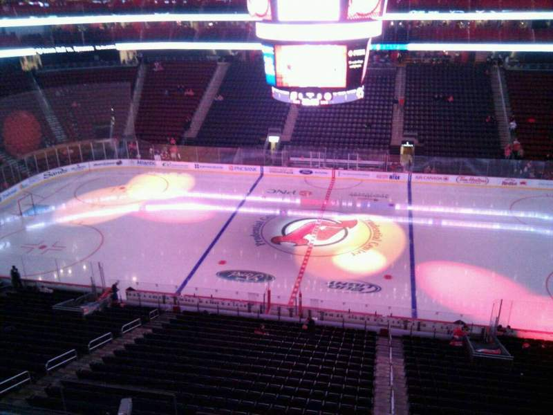Seating view for Prudential Center Section 112 Row 1 Seat 9