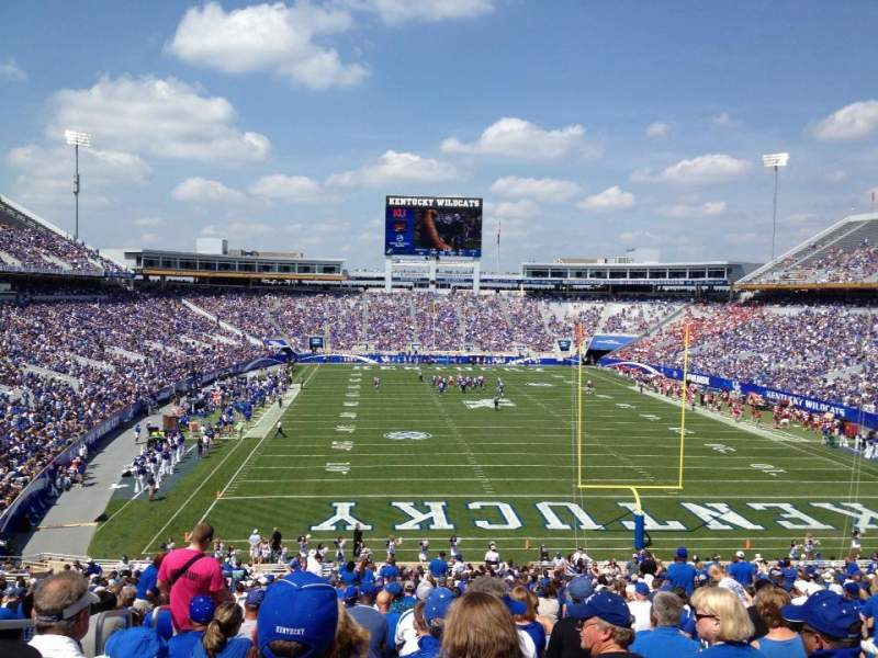 Seating view for Kroger Field Section 138