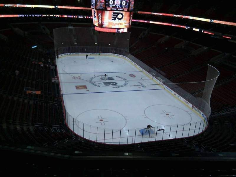 Seating view for Wells Fargo Center Section 206 Row 6 Seat 4