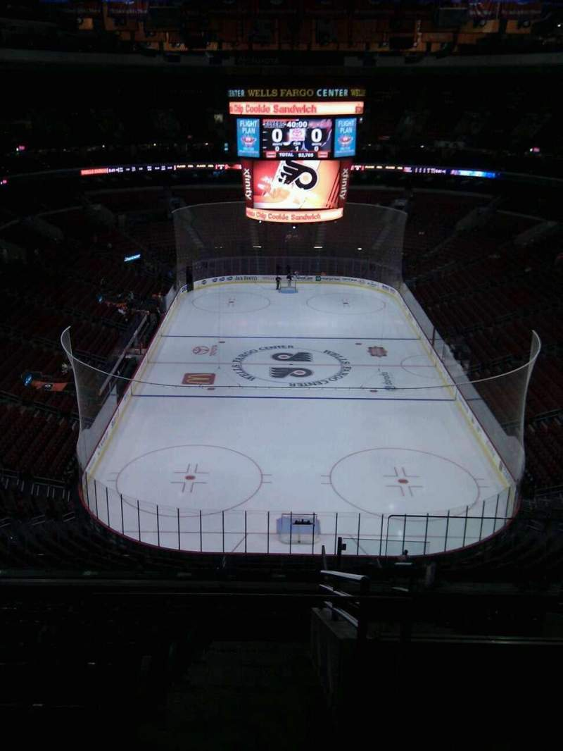 Seating view for Wells Fargo Center Section 207 Row 10 Seat 18