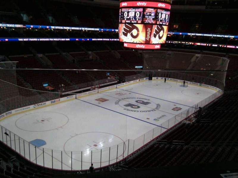 Seating view for Wells Fargo Center Section 209a Row 1 Seat 11